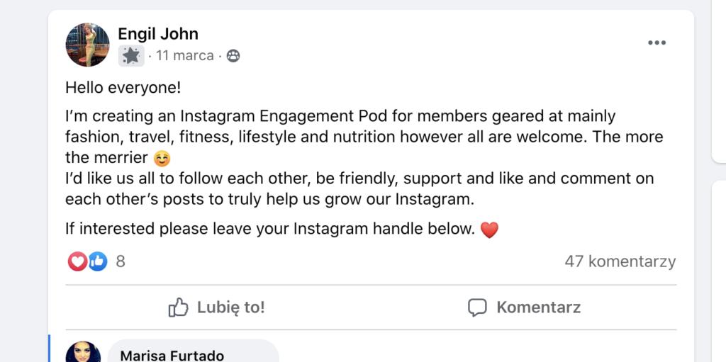 instagram pod fb